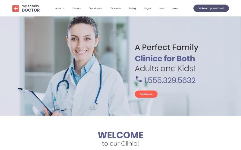Tema de WordPress para médico de familia privado