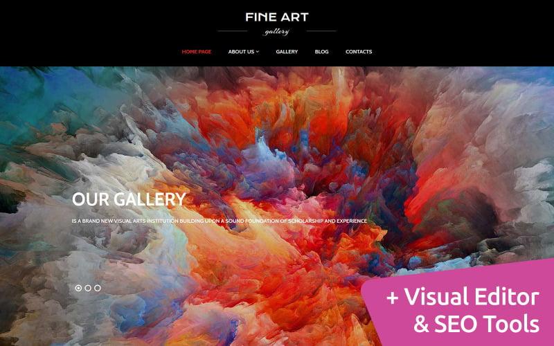 Art Gallery Moto CMS 3 Template