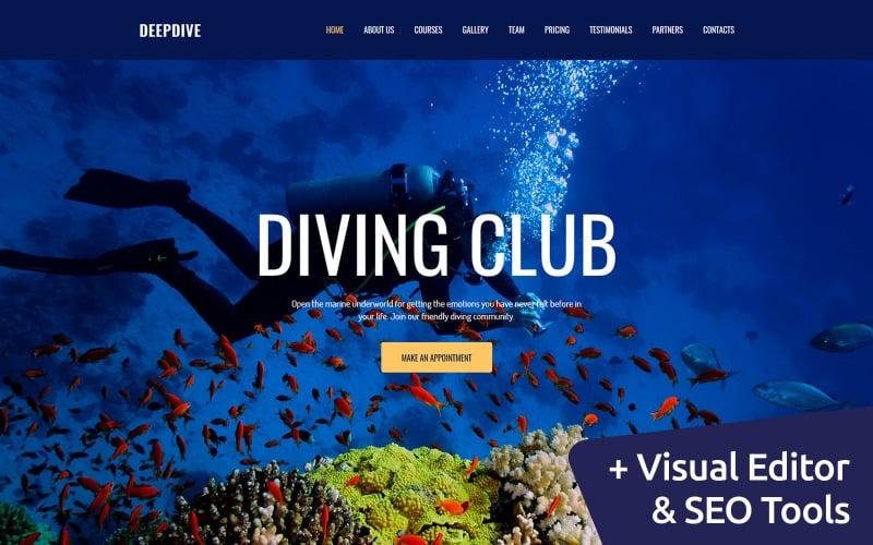 Deepdive - Sport & Outdoor & Tauchen Moto CMS 3 Vorlage