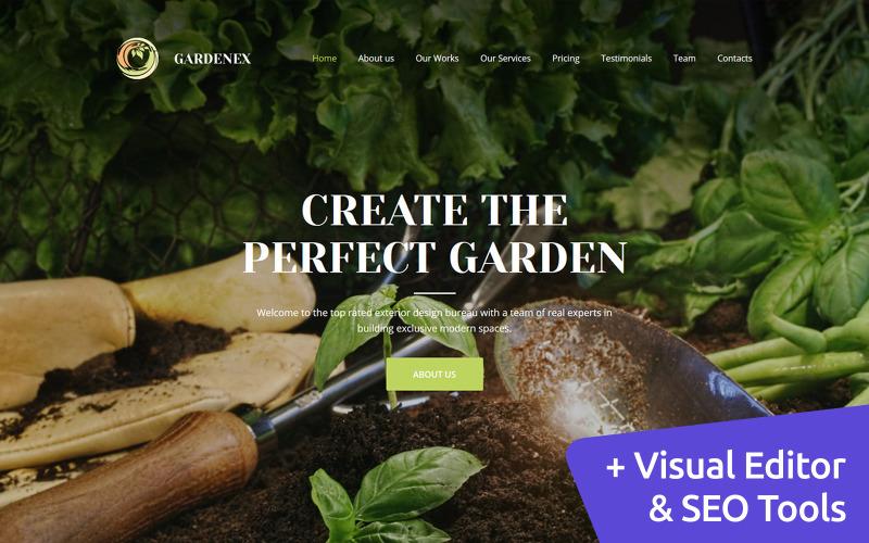 Gardenex - Premium Moto CMS 3 Vorlage