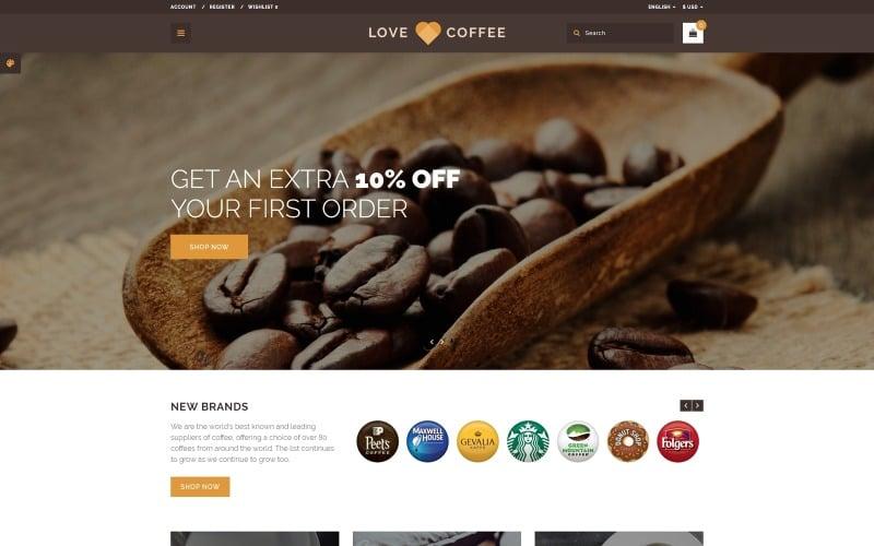 Love Coffee - Coffee House OpenCart Template