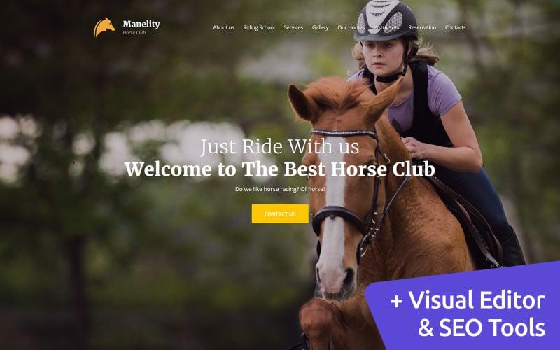 Manelity - Equestrian & Horse Riding Club Premium Moto CMS 3 Template