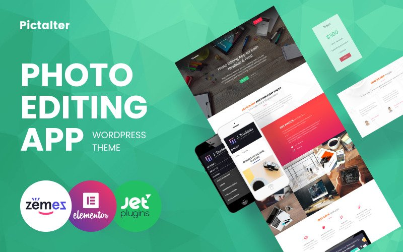 Pictalter - Photo Editing App Landing Page Template