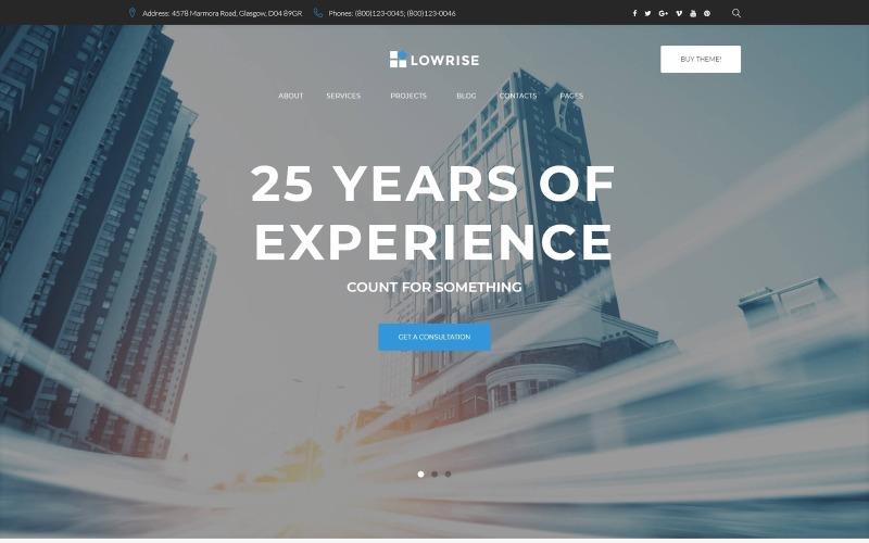 WordPress тема портфолио услуг архитектора