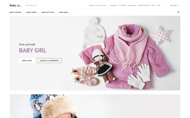 Babyis - Baby Clothes Store Responsive Magento Theme