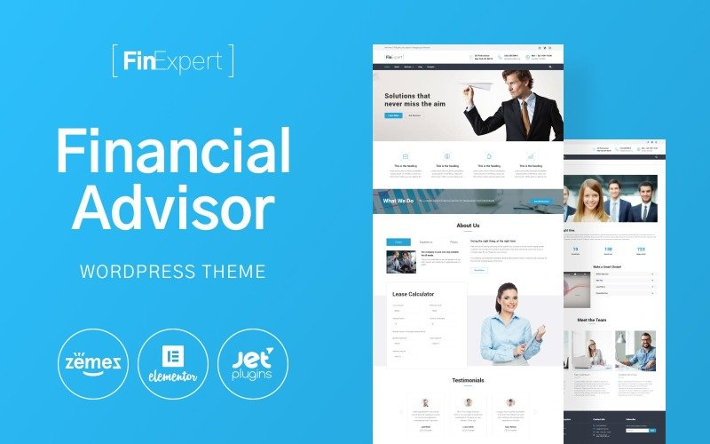 FinExpert - Responsive WordPress-thema voor financieel adviesbedrijf