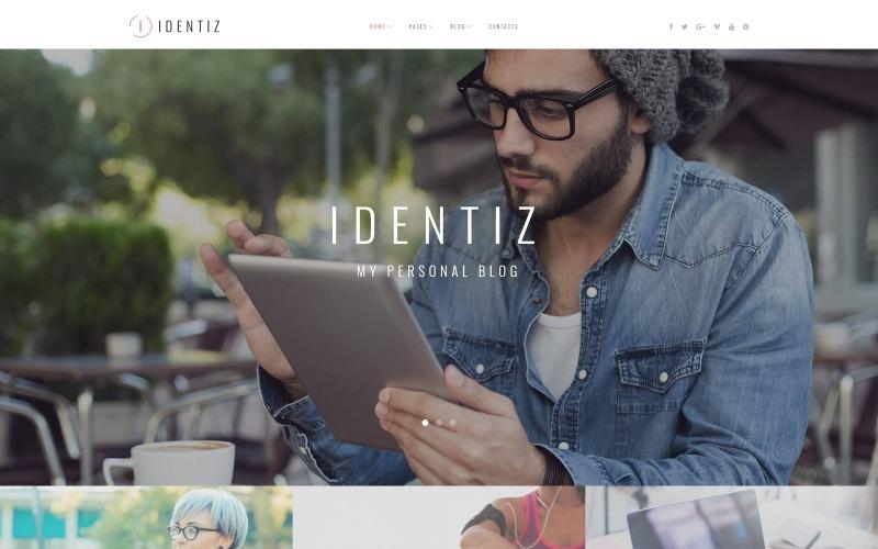 Identiz - osobisty motyw WordPress na blogu