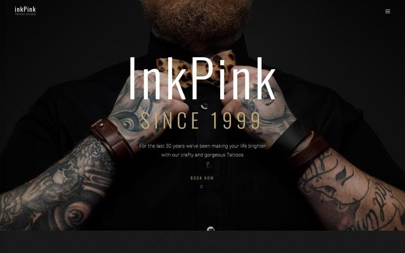 InkPink - motyw WordPress dla studia tatuażu