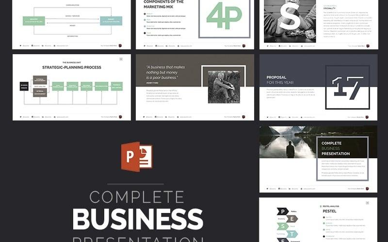 Kompletny szablon prezentacji biznesowych PowerPoint