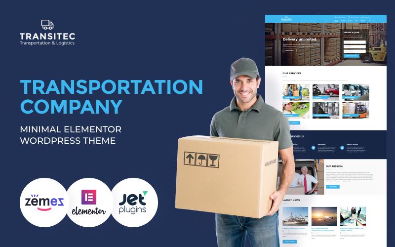Transitec - Transportation Multipurpose Minimal WordPress Elementor Theme