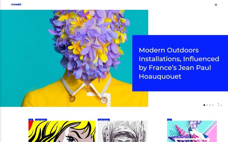 Creado - Tema WordPress adaptable para galería de arte