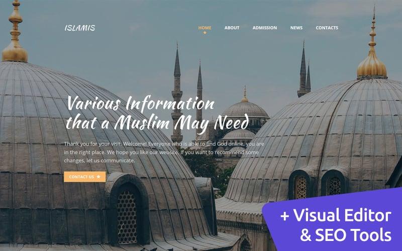 Islamic Website Moto CMS 3 Template