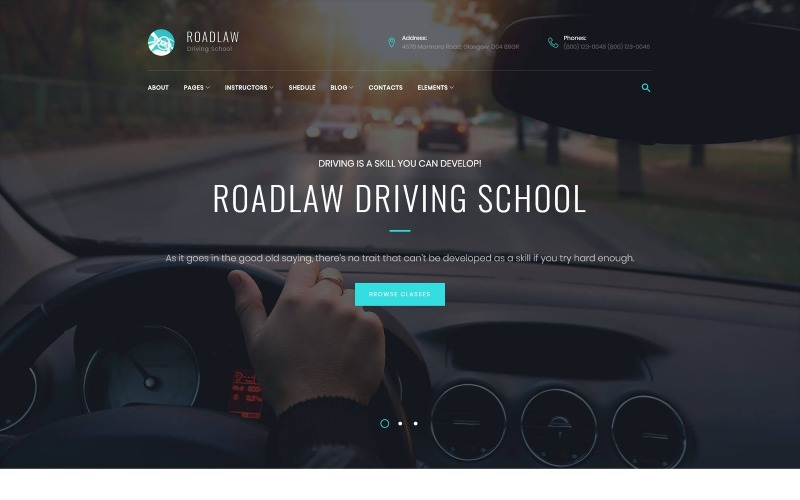 RoadLaw - Driving School Responsive WordPress theme