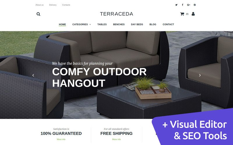 Furniture MotoCMS Ecommerce Template