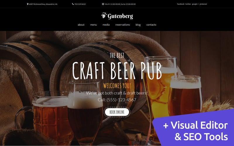 GutenBerg - Craft Beer Pub Moto CMS 3-sjabloon