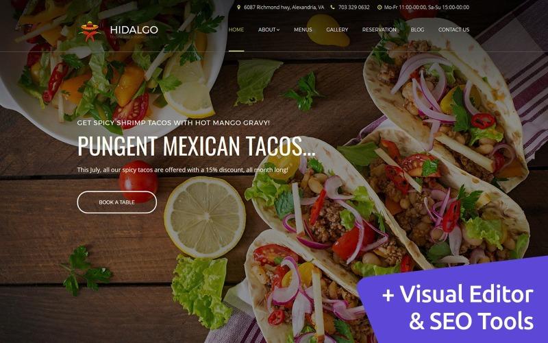 Modelo de Moto CMS 3 de restaurante mexicano