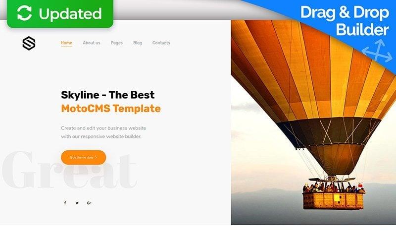 Skyline - шаблон Moto CMS 3 для бизнеса, стоматологии, архитектуры и путешествий