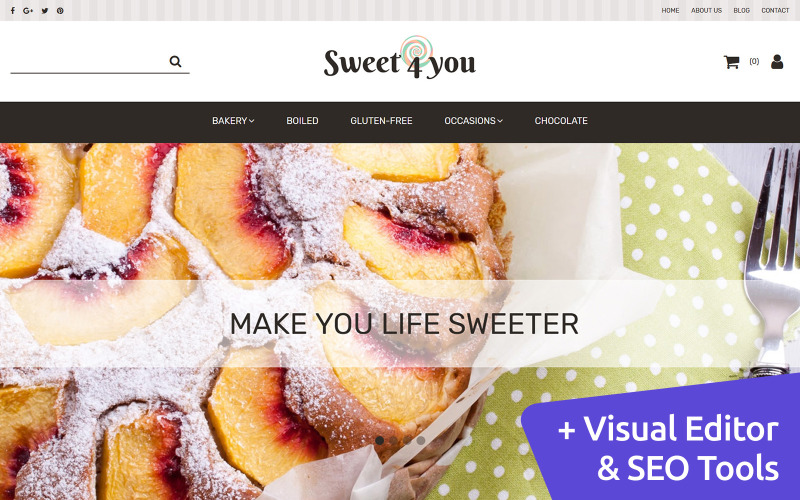 Sweet4you - Candy Stores MotoCMS Ecommerce Template