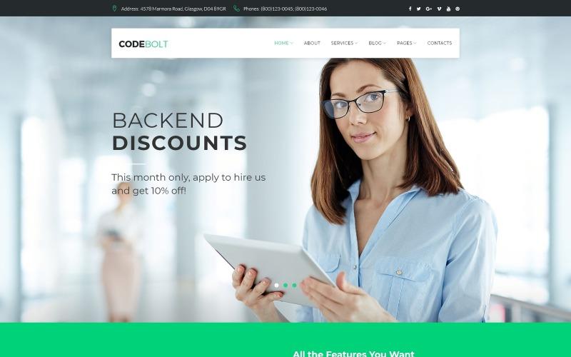 CodeBolt - Tema WordPress della società di software