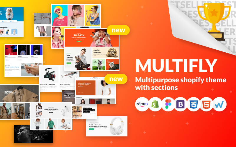 Multifly - Multipurpose Online Store Shopify-tema