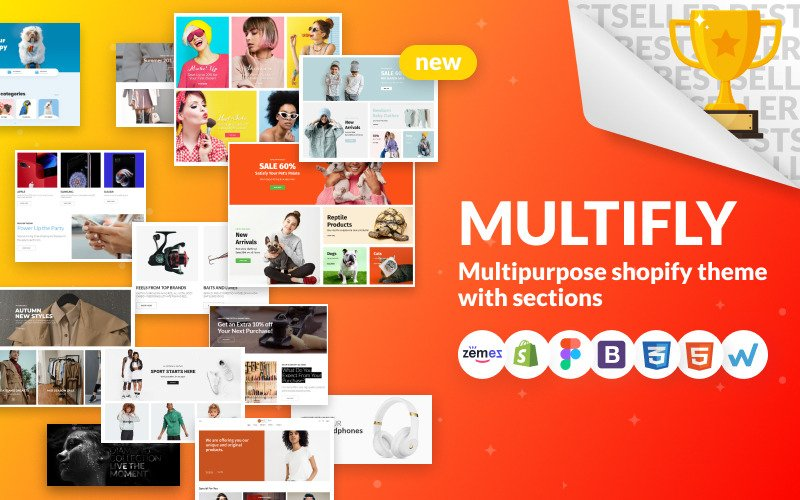 Multifly - тема для многоцелевого интернет-магазина Shopify