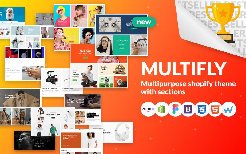 Multifly - Tema Shopify del negozio online multiuso