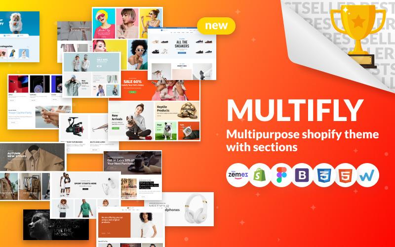 Multifly - uniwersalny motyw Shopify sklepu internetowego