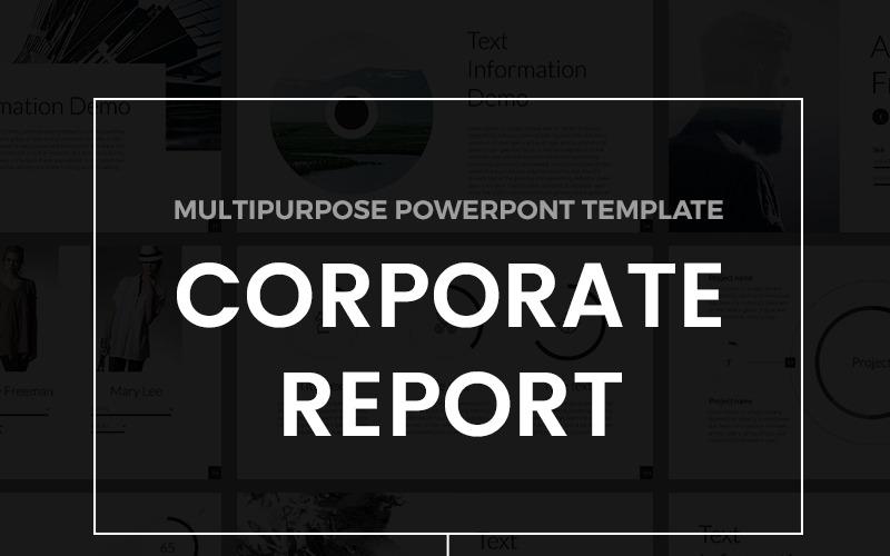 Szablon raportu korporacyjnego PowerPoint