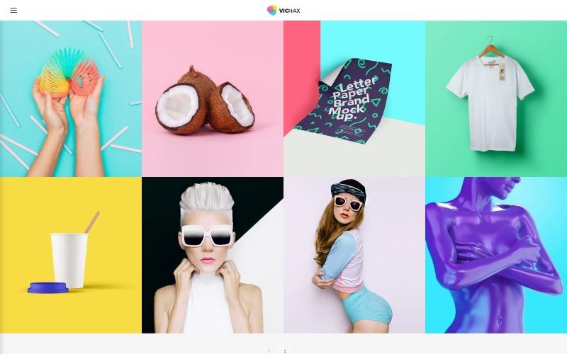 VicHax - WordPress тема дизайнерського портфоліо