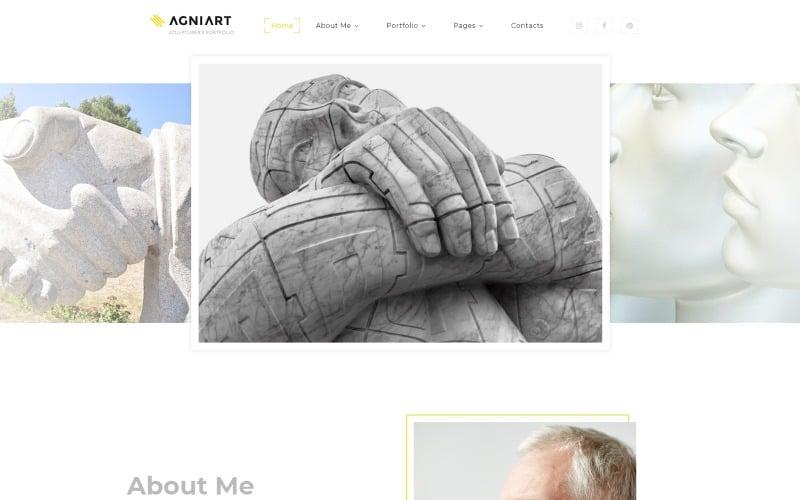 Agniart Sculptor Photo Gallery Website Template