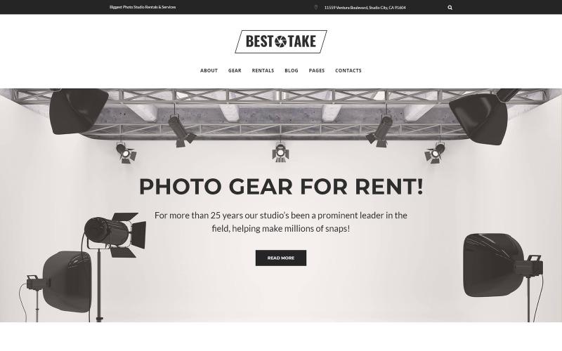 BestTake - Photo Studio Rentals & Services Responsive WordPress-Theme