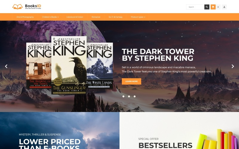 BooksID - téma Magento pro knihkupectví