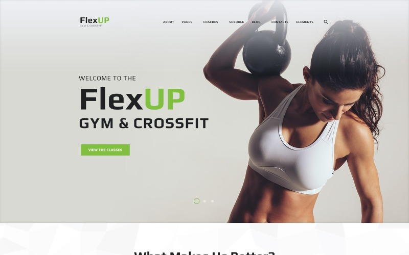Flex Up - tema de WordPress Crossfit