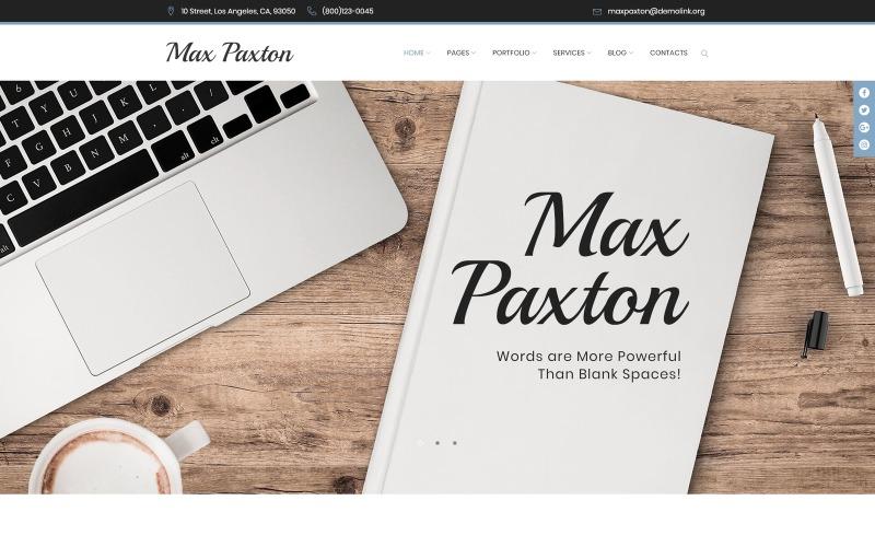 MaxPaxton - Tema WordPress de Redator Freelance e Jornalista
