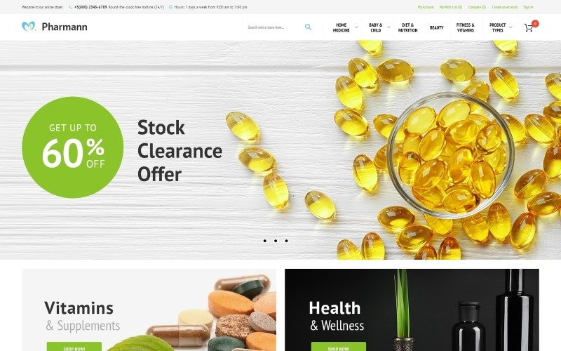Pharmann - Drug Store Magento Theme