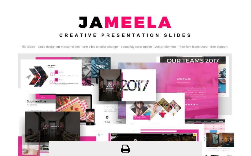 Jameela pięknie kreatywna prezentacja Szablon programu PowerPoint