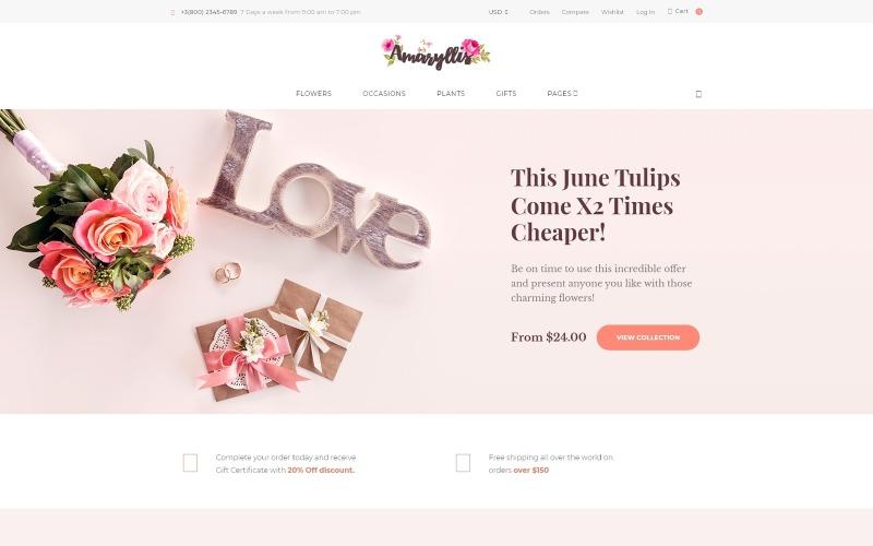 Amaryllis - Thème WooCommerce Flower Shop