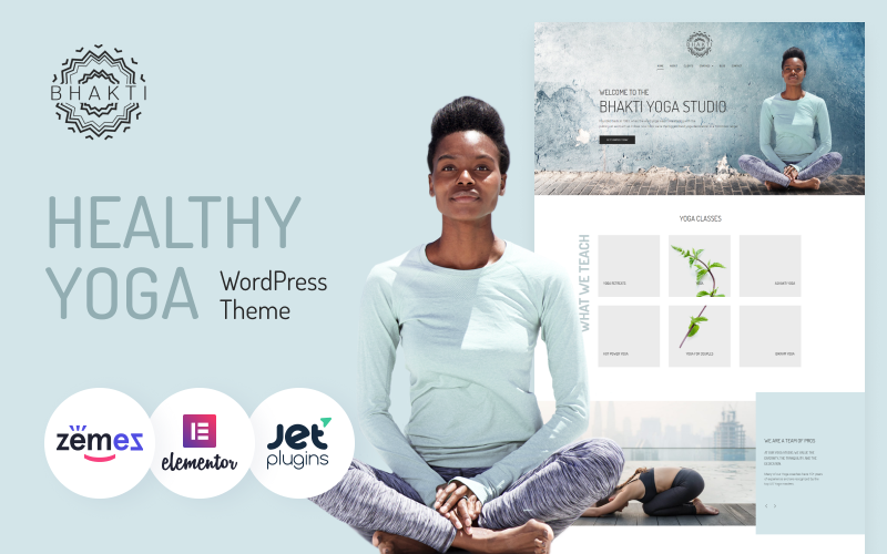 Bhakti - Multifunctional And Healthy Yoga Theme WordPress Template
