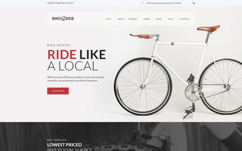 Bikes2Ride - Cycling WordPress Theme