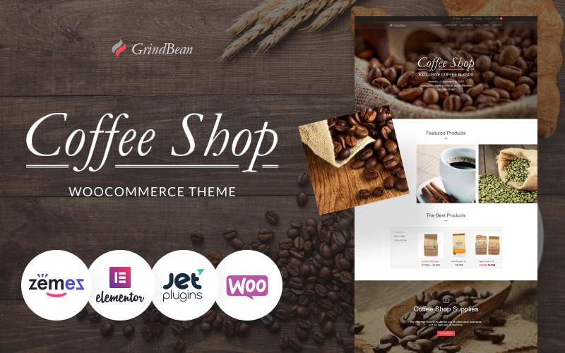 CoffeeShop - Tema responsivo do WooCommerce