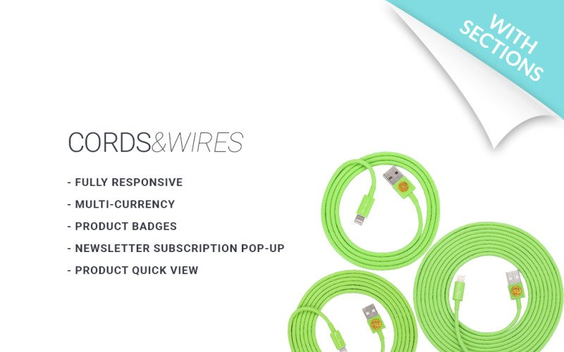 Cords & Wires Shopify Theme