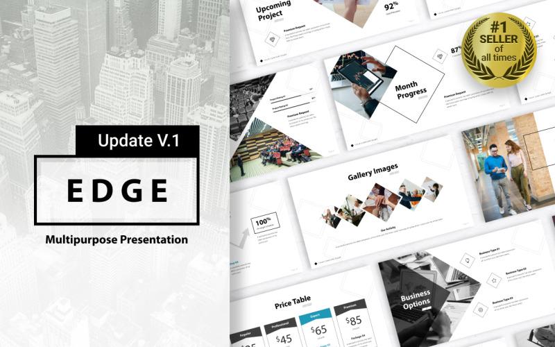Edge-Mehrzweckpräsentation PowerPoint-Vorlage