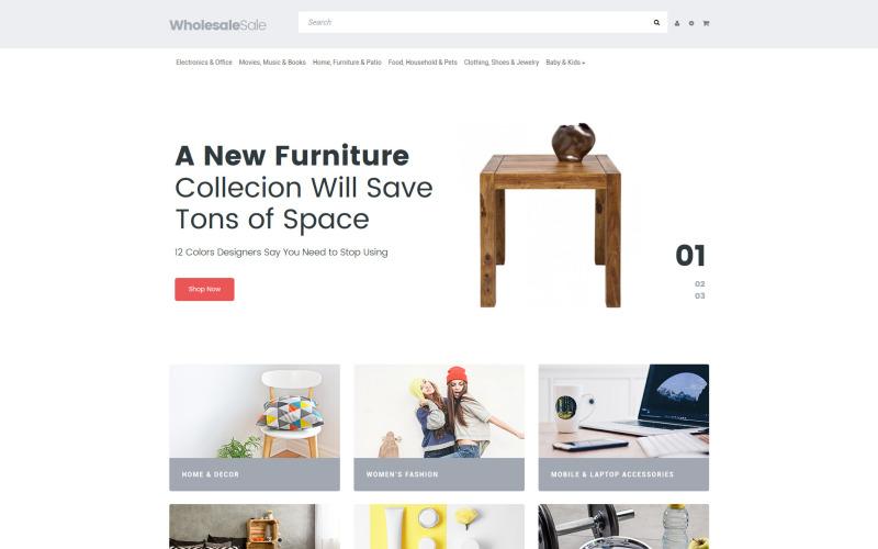 Responsiv OpenCart-mall för grossistbutik