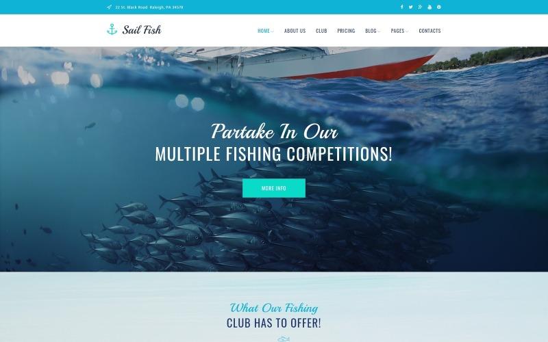 Sail Fish - адаптивная тема WordPress для рыболовного клуба