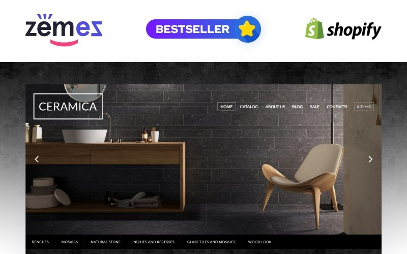 Tegelsteen responsief Shopify-thema