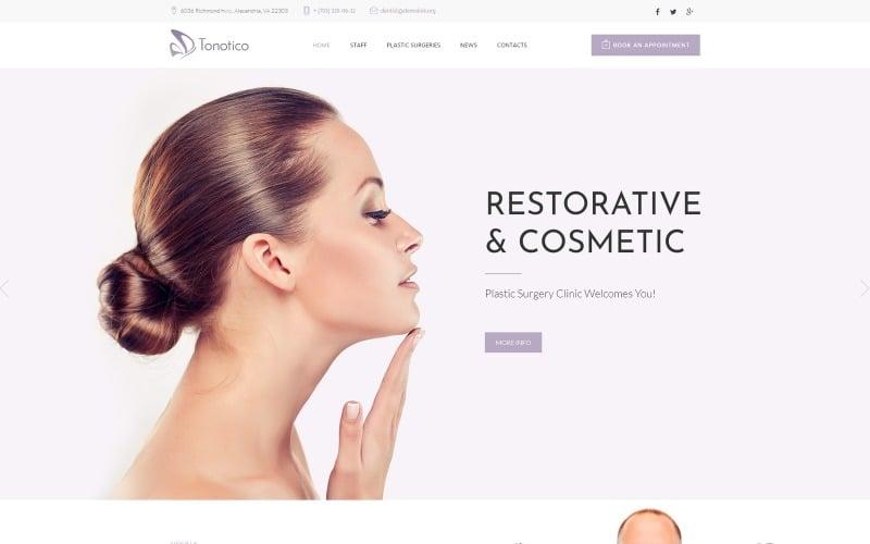 Tonotico - адаптивная тема WordPress для клиники пластической хирургии