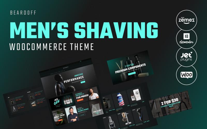 Beardoff - Tema WooCommerce reattivo per prodotti da barba da uomo