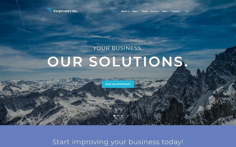 Corporates Inc WordPress Theme