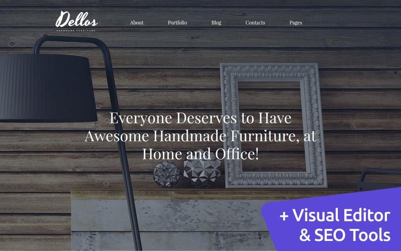 Dellos - Handmade Furniture & Interior Moto CMS 3 Template