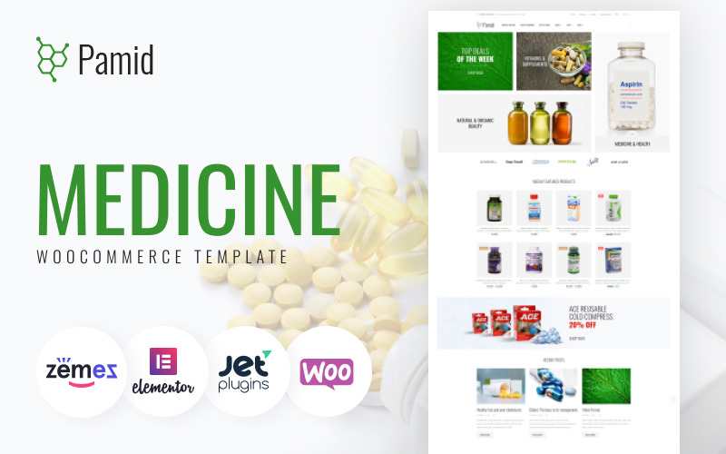 Pamid - Tema WooCommerce adaptable para farmacias